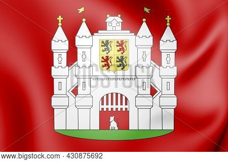 3d Mons Coat Of Arms (hainaut Province), Belgium. 3d Illustration.
