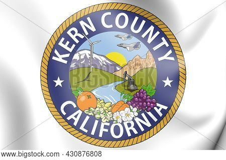 3d Seal Of Kern County (california State), Usa. 3d Illustration.