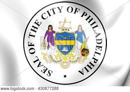 3d Seal Of Philadelphia (pennsylvania State), Usa. 3d Illustration.