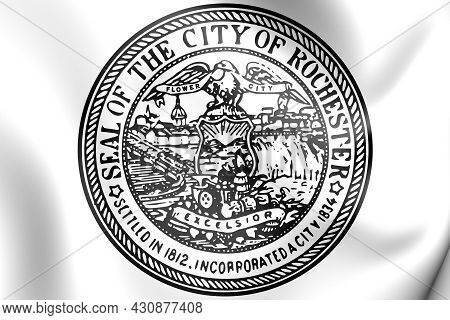 3d Seal Of Rochester (new York State), Usa. 3d Illustration.