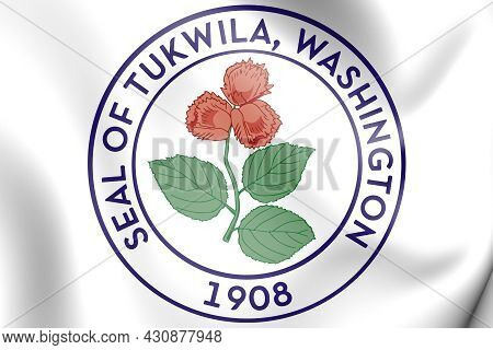 3d Seal Of Tukwila (washington State), Usa. 3d Illustration.