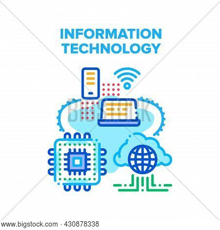 Informational Technology Vector Icon Concept. Informational Technology For Communication, Mobile Pho