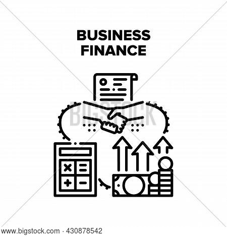 Business Finance Vector Icon Concept. Business Finance Accounting Annual Report And Counting Income,