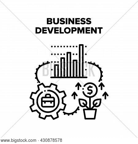 Business Development Vector Icon Concept. Business Development And Planning Strategy Process, Growth