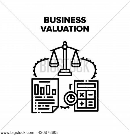 Business Valuation Vector Icon Concept. Business Valuation And Analyzing, Counting Annual Income And