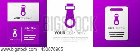 Logotype Zipper Icon Isolated On White Background. Logo Design Template Element. Vector
