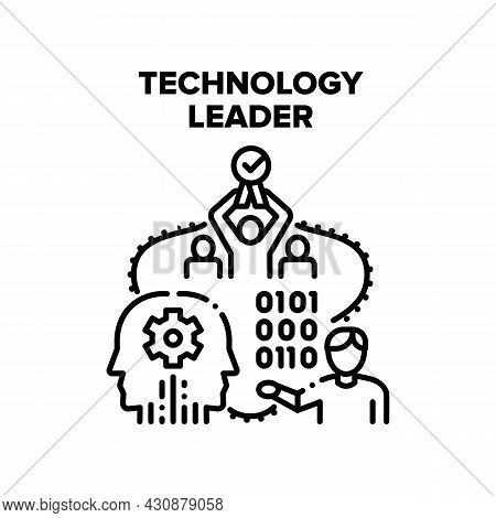 Technology Leader Vector Icon Concept. Technology Leader For Developing And Managing Company, Manage