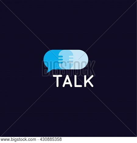 Contact And Dialog Service, Chatting Icon Design. Assistance And Advice Vector Logo Concept. Support
