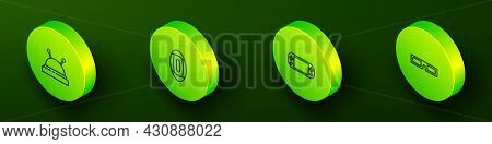 Set Isometric Line Needle Bed And Needles, American Football Ball, Portable Video Game Console And C