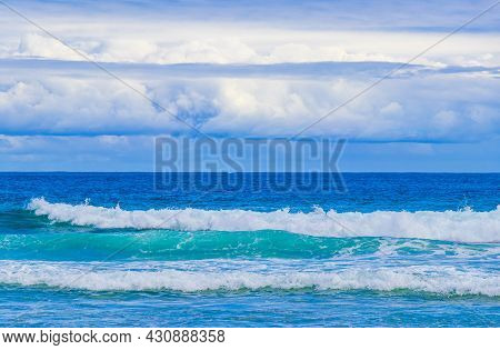Strong Waves At Amazing Praia De Lopes Mendes Beach On The Big Tropical Island Ilha Grande In Angra