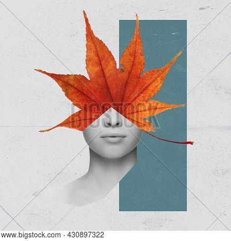 Minimalism, Contemporary Art Collage. Inspiration, Idea, Trendy Urban Magazine Style. Black And Whit