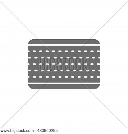 Layered Orthopedic Mattress Grey Icon. Isolated On White Background