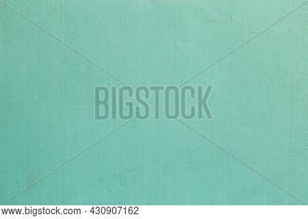 Shabby Green Plaster Wall Texture And Full Frame Background