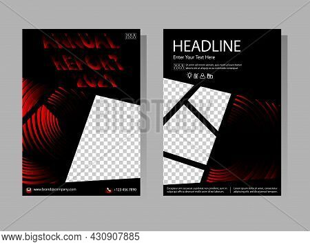 Annual Report Book Cover Templates. Geometry Brochure, A4 Size Flyer Template. Abstract Vector Desig