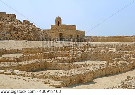 Remains Of The Qal'at Al-bahrain Or The Portuguese Fort, Unesco World Heritage Site In Manama, Histo