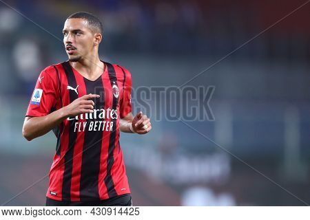 Genova, Italy. 23 August 2021. Ismael Bennacer Of Ac Milan  During The Serie A Match Beetween Uc Sam