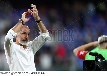 Genova, Italy. 23 August 2021. Stefano Pioli, Head Coach Of Ac Milan  During The Serie A Match Beetw