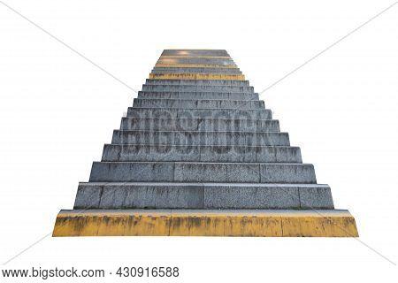 Steps Leading Upwards Isolated On White Background