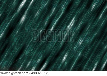 Creative Teal, Sea-green Heavy Polished Aluminum Lines Digital Drawn Texture Or Background Illustrat