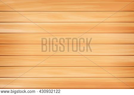 Realistic Wood Texture. Natural Light Brown Wooden Background. Table, Floor Or Wall Pine Surface. Re