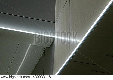 Strict Geometry Of Parallel Horizontal And Vertical Gray And Luminous Lines And Intersections