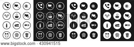 Set Scotch, Binder Clip, Gear, Telephone Handset And Speech Bubble Chat, Folder Settings With Gears,