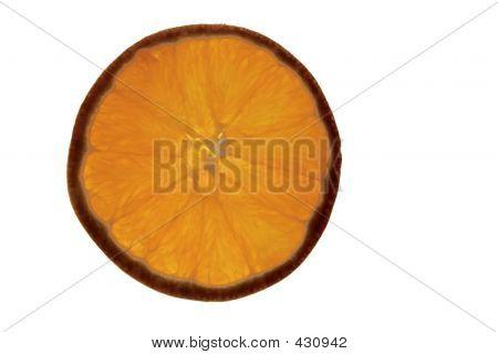 Macro Of An Orange Slice