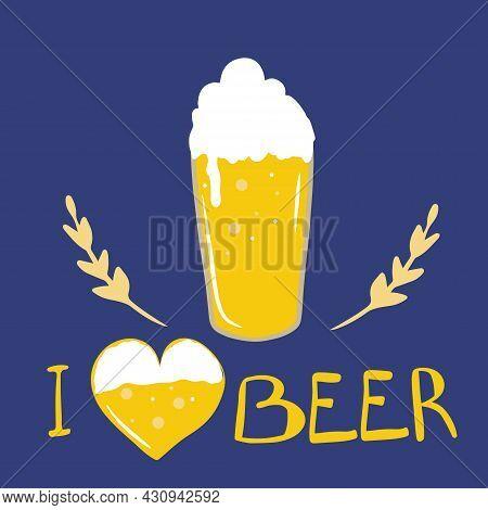 Oktoberfest Celebration Set, Beer Mugs, Hand-lettered Beer, Oktoberfest Holiday, Wheat Spikelets. Fo
