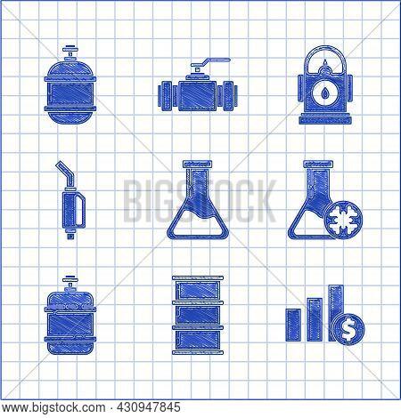Set Test Tube And Flask, Barrel Oil, Pie Chart Infographic Dollar, Antifreeze Test, Propane Gas Tank