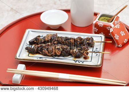 grilled eel liver, unagi no kimoyaki, japanese cuisine