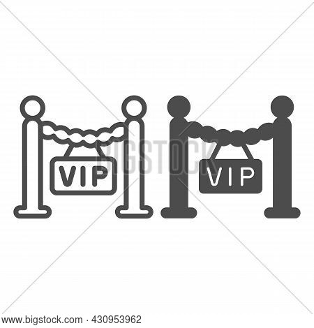 Fencing, Barrier, Only For Vip Guest Line And Solid Icon, Celebrity Concept, Vip Zone Stanchion Vect
