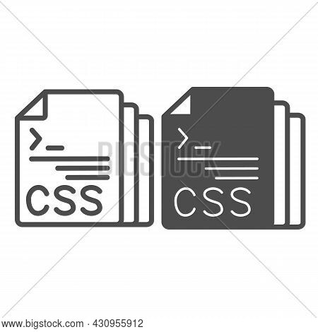 Css Code Document Files Line And Solid Icon, Programming Concept, Css Doc Vector Sign On White Backg