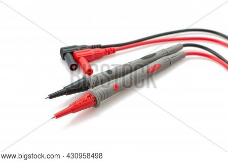 Probe For Digital Clamp Meter Isolated On White Background.