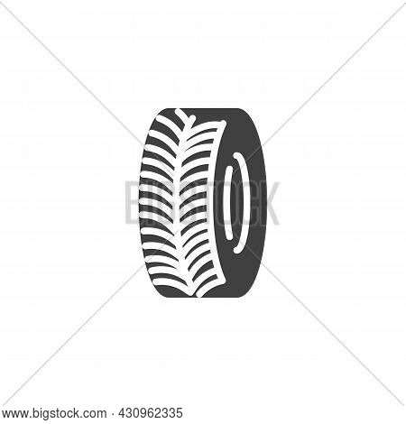 Tyre Protector Vector Icon. Filled Flat Sign For Mobile Concept And Web Design. Car Wheel Tyre Glyph