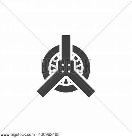 Car Tyre Repair Vector Icon. Filled Flat Sign For Mobile Concept And Web Design. Wheel Repair Servic