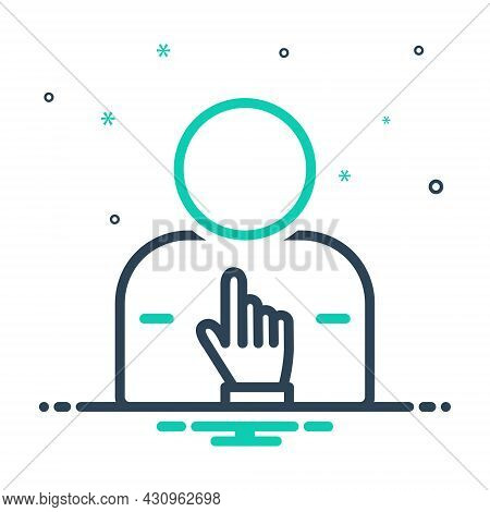 Mix Icon For Himself Indicate Self Yourself Herself Oneself Yourselves