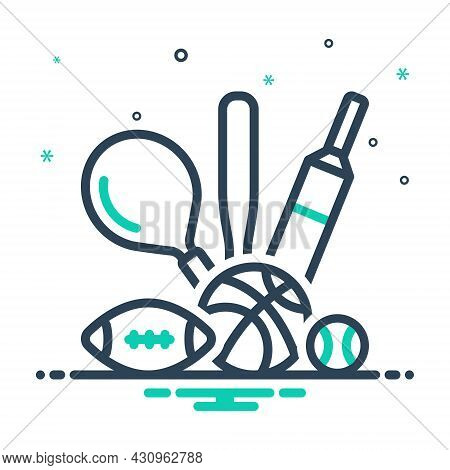 Mix Icon For Sport Game Play Competitive Athletics Pastime Entertainment Delight