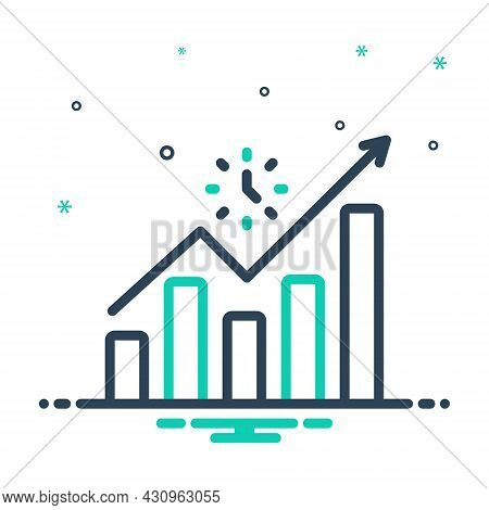 Mix Icon For Advance Leading  Promoted Success Career Achievement Development Progress Growth