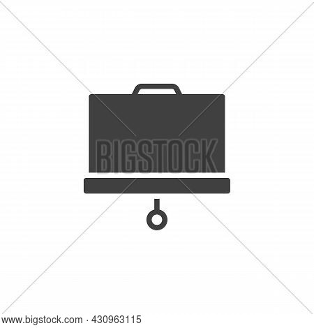Presentation Screen Vector Icon. Filled Flat Sign For Mobile Concept And Web Design. Projector Scree