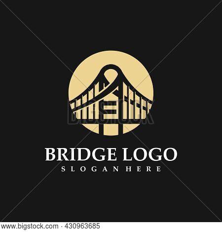 Bridge Logo. Business Bridge Logo Design Vector Icon Template Design