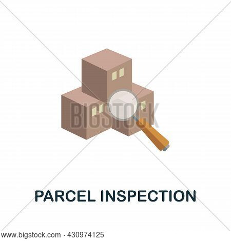 Parcel Inspection Flat Icon. Simple Sign From Logistics Collection. Creative Parcel Inspection Icon