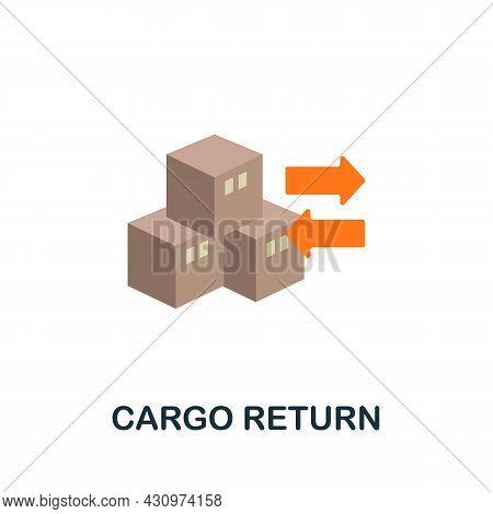 Cargo Return Flat Icon. Simple Sign From Logistics Collection. Creative Cargo Return Icon Illustrati