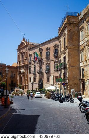 View Of The Former Convent Of San Domenico,situated In The Via Atenea, Agrigento