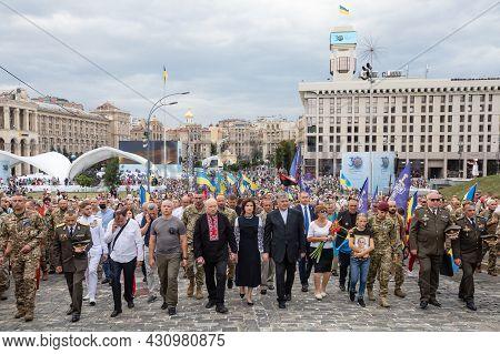 Petro Poroshenko During Celebrating The 30Th Anniversary Of Ukraine Independence