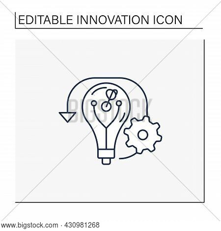 Reverse Innovation Line Icon.strategy Of Innovating In Emerging Markets. Distributing In Developed M
