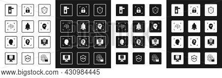 Set Shield Face Recognition, Motion Sensor, Voice, Fingerprint Door Lock, Face, With, Monitor Finger