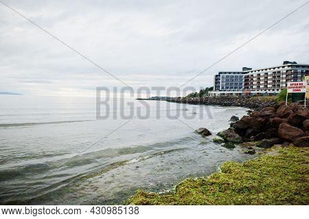 Nesebar, Bulgaria - June 17, 2021: Resort Attica Paradiso Apart Hotel Bulgaria View.
