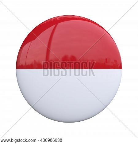 Indonesia National Flag Badge, Nationality Pin 3d Rendering