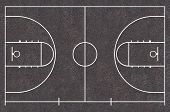 Basketball court floor plan Asphalt Texture Street Basketball poster