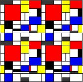 Simple geometric grid pattern inspired by Mondrian poster